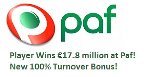Paf Casino Mega Fortune Winner NetEnt