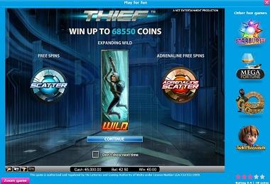 Thief NetEnt Slot Casino