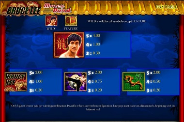 Bruce Lee Game Slot Williams WMS