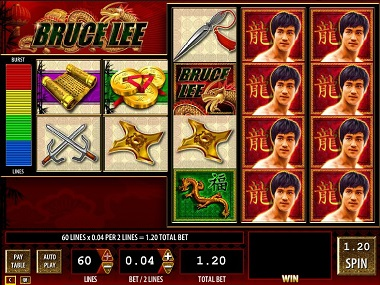 Bruce Lee Slot WMS Williams Interactive