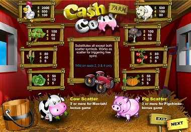 Cash Cow Slots Game
