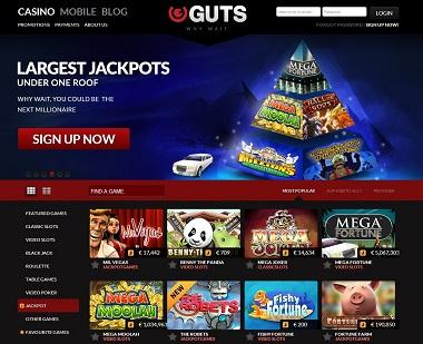 Guts Casino Jackpots