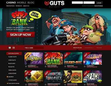 guts casino bonus codes