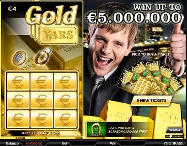 Gold Bars Scratch Card