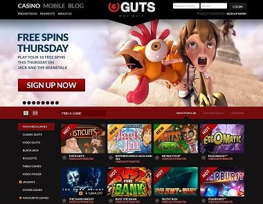 Guts Casino NetEnt