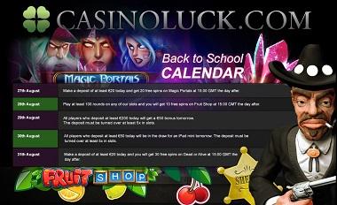 Back to School CasinoLuck