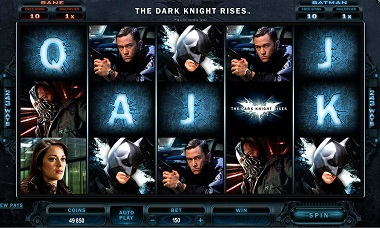 Dark Knight Rises Online Slot Microgaming