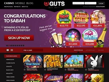 Guts Casino Winner