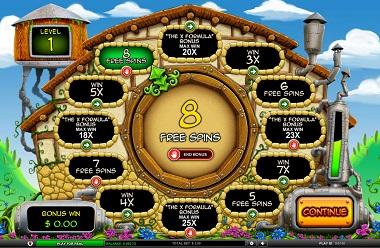 Bonus Game Potion Factory Slot