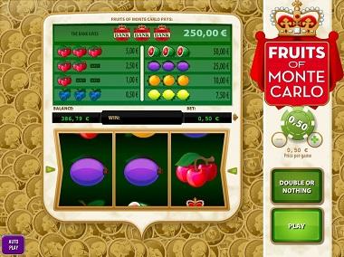 Fruits Of Monte Carlo Williams Slot