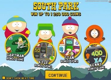 South Park NetEnt Main