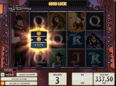 Three Musketeers Game Quickspin