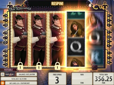 Three Musketeers Game Slot