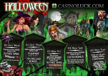 CasinoLuck Halloween Promotions
