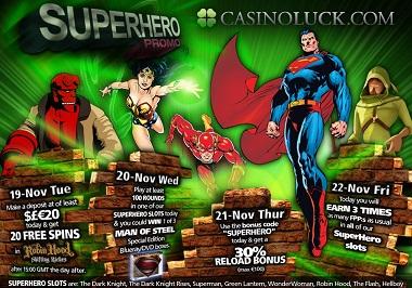 Superhero Promo CasinoLuck