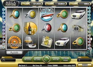 Mega Fortune NetEnt Screenshot
