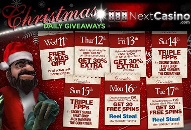 NextCasino Christmas Calendar New