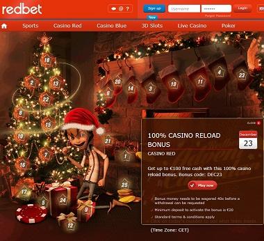 Redbet Christmas Calendar