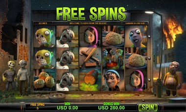 Kids VS Zombies Free Spins