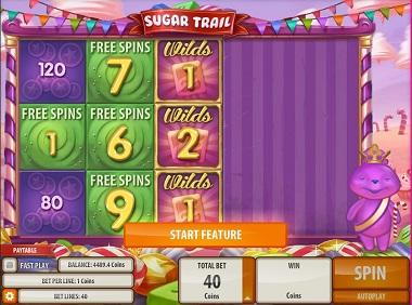 Pre Bonus feature Sugar Trail