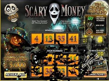 Scary Money Scratch Card