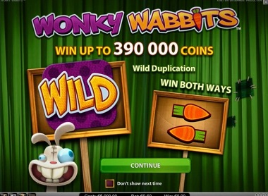 Wonky Wabbits Slot NetEnt