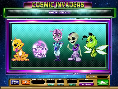Cosmic Invaders Bonus Game