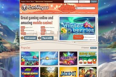 LeoVegas Games Lobby