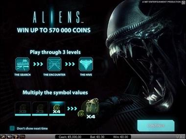 Aliens Slot Opening
