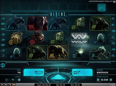 Aliens Slot Screenshot