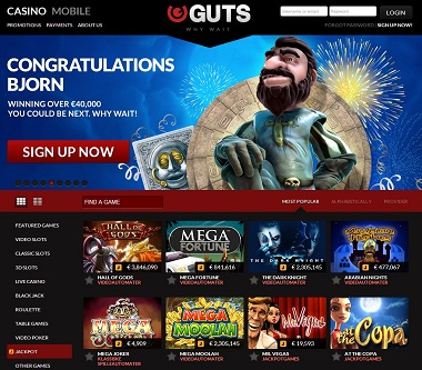 Guts Casino Big Winner