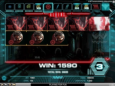 Aliens Slot Game Screenshot