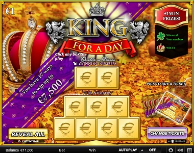 King For A Day Scratch Card