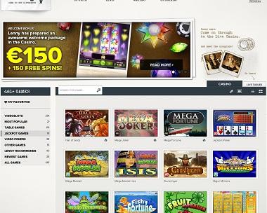 SuperLenny Casino Jackpots