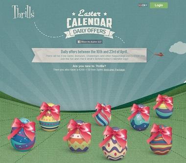 Thrills Easter Calendar