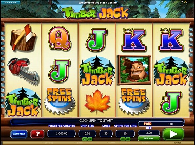 Timber Jack Video Slot