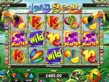 1 Can 2 Can Slot Screenshot