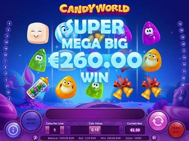 Candy World Slot Big Win