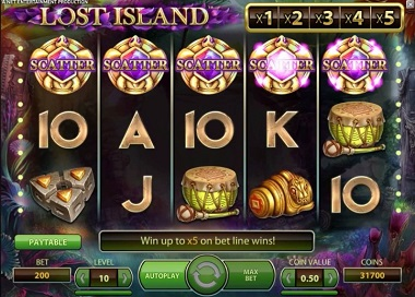Lost Island Slot Scatters