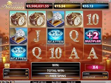 Mega Fortune Dreams Jackpot Slot