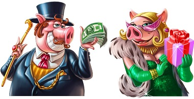 Piggy Riches Symbols