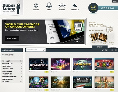 SuperLenny Casino World Cup
