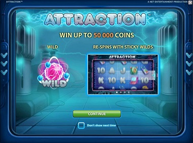 Attraction Slot Opening Screen