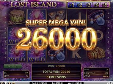 Big Win Lost Island NetEnt