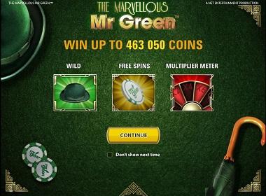 The Marvellous Mr Green NetEnt
