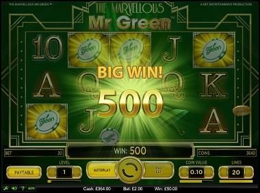 The Marvellous Mr Green Slot Game