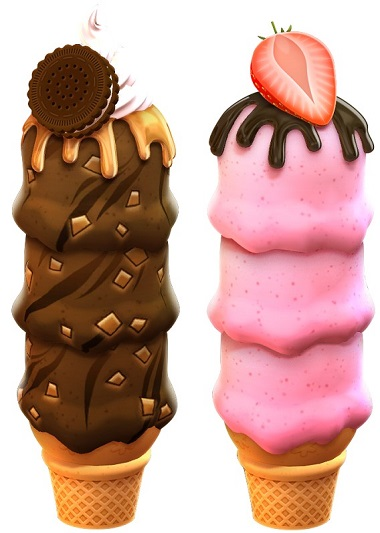 Sunny Scoops Ice Cream Symbols