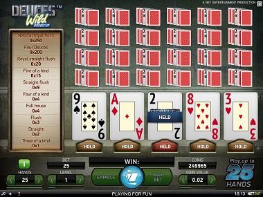 Video Poker NetEnt