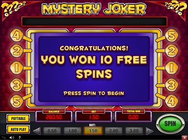 Mystery Joker Slot Free Spins