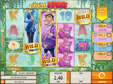 Royal Frog Slot Screenshot